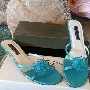 Danelle strappy sandels. Sky Blue Smooth Lexus wit